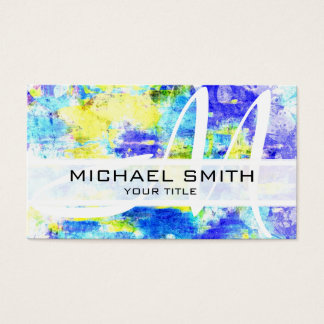 Abstract Colored Modern Monogram #11 Business Card