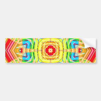 Abstract Colored Pencils Fractal Bumper Sticker
