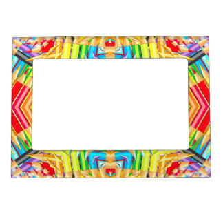 Abstract Colored Pencils Fractal Magnetic Frame