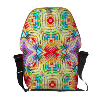 Abstract colored pencils fractal courier bags