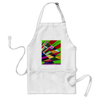 Abstract Colorful Angle lines digital art design Adult Apron