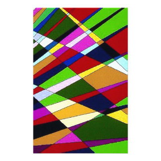 Abstract Colorful Angle lines digital art design Stationery Paper