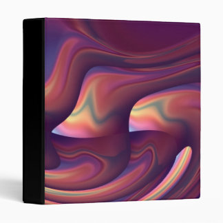 Abstract Colorful Art 3 Ring Binders