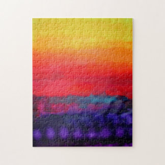 Abstract Colorful Art Painting Modern Design Decor Jigsaw Puzzle