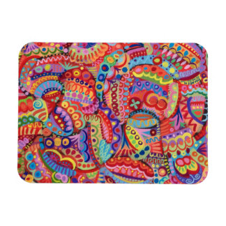 Abstract Colorful Art Premium Magnet