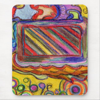 Abstract Colorful Artwork Mouse Pad