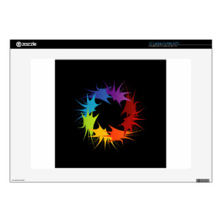 """Abstract colorful background 15"""" laptop decal"""
