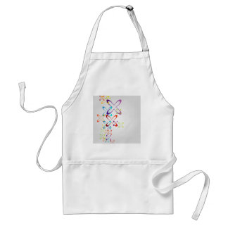 Abstract colorful background adult apron