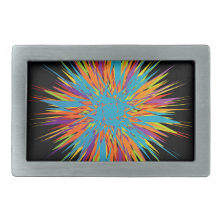 Abstract colorful background belt buckle