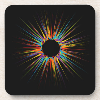 Abstract colorful background beverage coaster