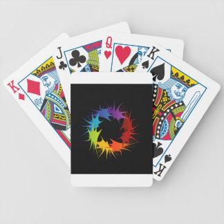 Abstract colorful background bicycle playing cards