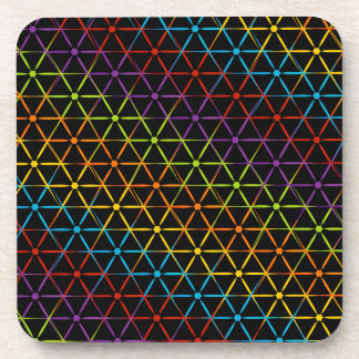 Abstract colorful background coaster
