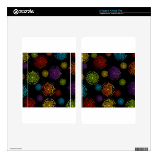 Abstract colorful background decal for kindle fire
