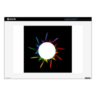 Abstract colorful background decal for laptop