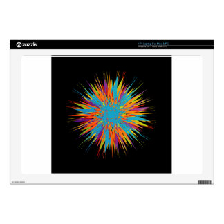 """Abstract colorful background decals for 17"""" laptops"""