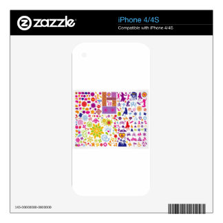 Abstract colorful background design decal for iPhone 4