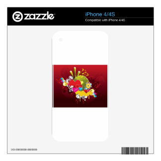 Abstract colorful background design iPhone 4S skin