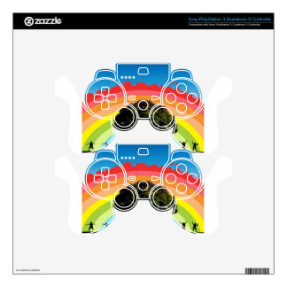 Abstract colorful background design skin for PS3 controller