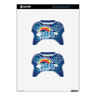 Abstract colorful background design xbox 360 controller decal