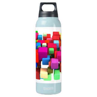 Abstract Colorful Background Insulated Water Bottle