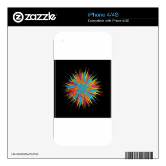 Abstract colorful background iPhone 4 decals
