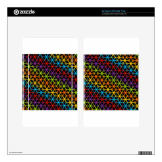 Abstract colorful background kindle fire decal