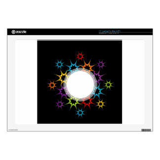 Abstract colorful background laptop skins