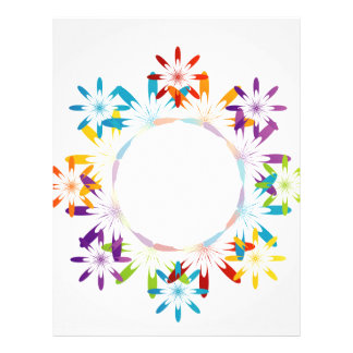 Abstract colorful background letterhead