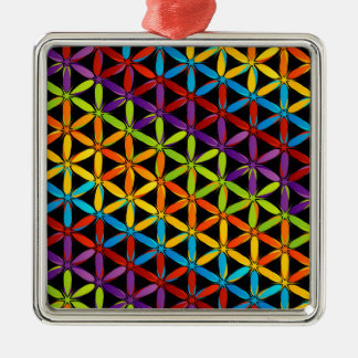 Abstract colorful background metal ornament