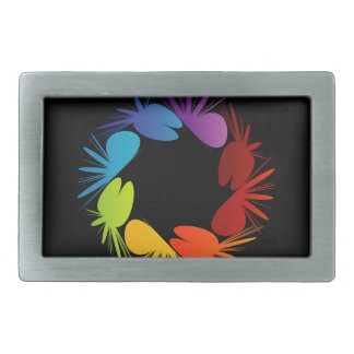 Abstract colorful background rectangular belt buckle