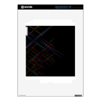 Abstract colorful background skin for iPad 2