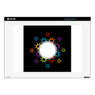 Abstract colorful background skin for laptop