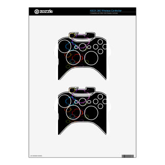 Abstract colorful background xbox 360 controller skins