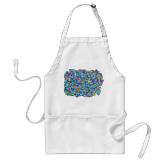Abstract Colorful Blue Mosaic Pattern Adult Apron