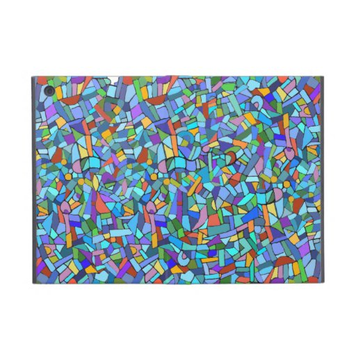 Abstract Colorful Blue Mosaic Pattern iPad Mini Cover