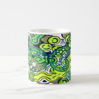 Abstract colorful butterfly coffee mug