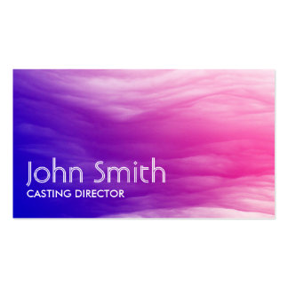 Abstract Colorful Casting Director Business Card