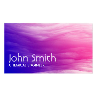 Abstract Colorful Chemical Engineer Business Card