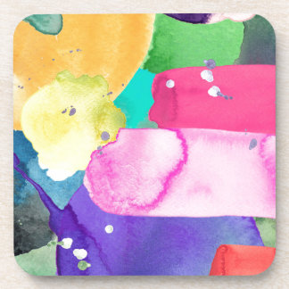 ABSTRACT COLORFUL COASTER