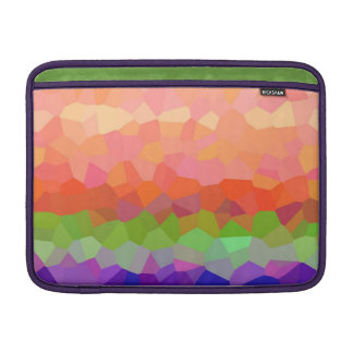 Abstract colorful crystal pattern MacBook air sleeve