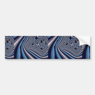Abstract colorful curtains bumper sticker
