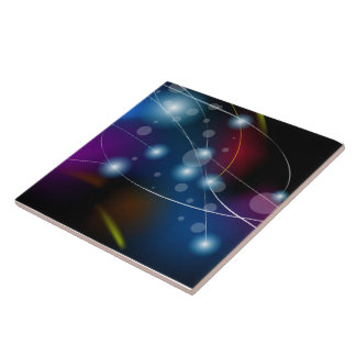 Abstract Colorful Dark Vector Ceramic Tile
