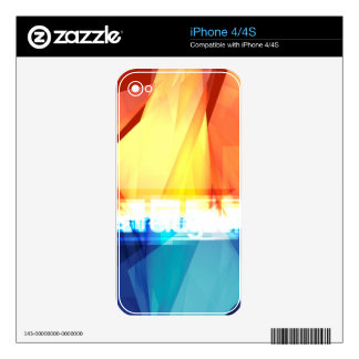 Abstract colorful design decal for the iPhone 4S