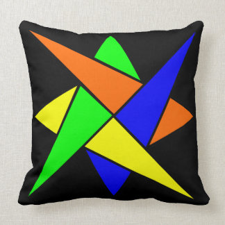 Abstract Colorful Design Teens Bedroom Throw Pillow