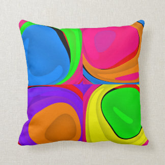 Abstract Colorful Design Throw Pillow