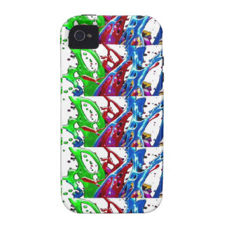 Abstract Colorful Embossed Dancing Pattern Gifts Case For The iPhone 4
