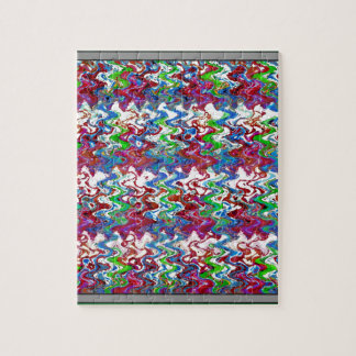 Abstract Colorful Embossed Dancing Wave Art Gifts Jigsaw Puzzles
