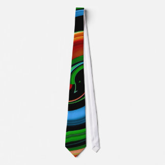 Abstract Colorful Face - Swirls Tie