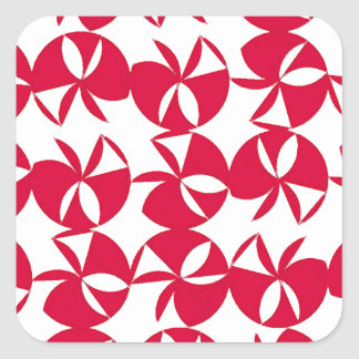Abstract Colorful fan Square Sticker