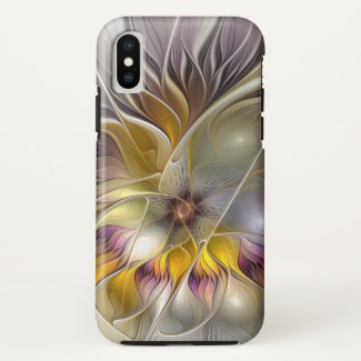 Abstract Colorful Fantasy Flower Modern Fractal Case-Mate iPhone Case